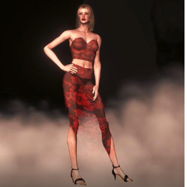 3D model ellens human female