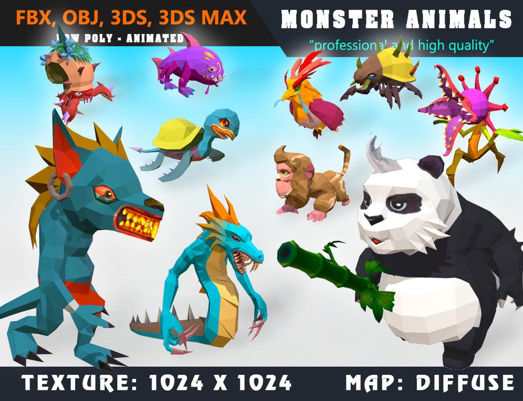 monster cartoon - ready 3D