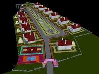modern house villa 3D model