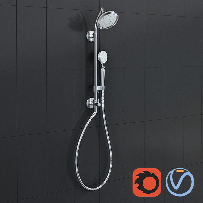 shower column kit kohler 3D model