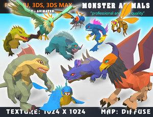 3D monster cartoon - ready