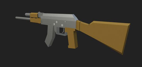 3D stylized ak-47 rifle
