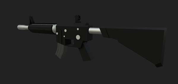 stylized m4a4 3D model