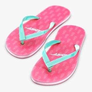 3D sandals holiday beach