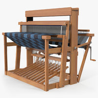 Wooden Loom with Rug
