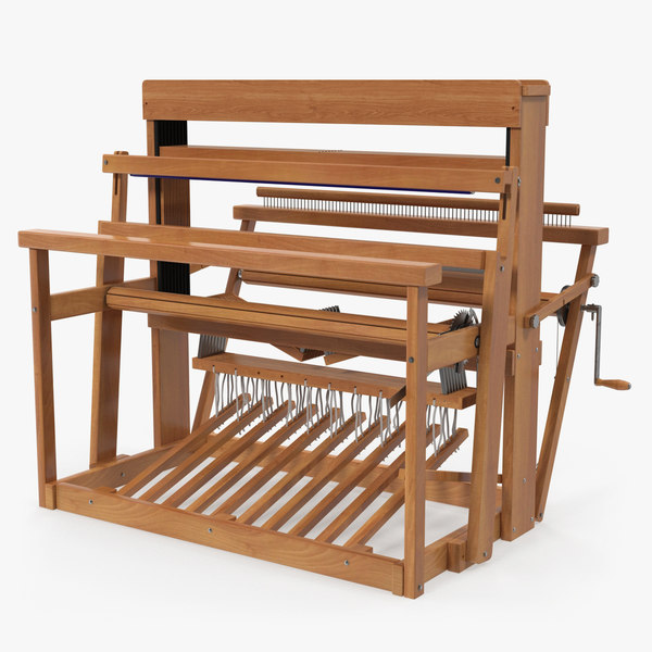 vintage wooden loom model