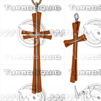3D pendant cross model