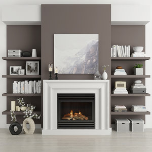 3D fireplace decor