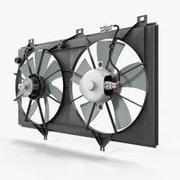 radiator fans 3D model