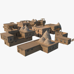 3D old syrian houses model