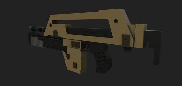 stylized m41a rifle 3D
