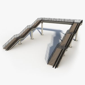 bridge stairs 3D model