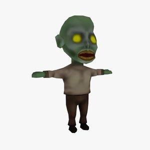 cartoon zombie 3D