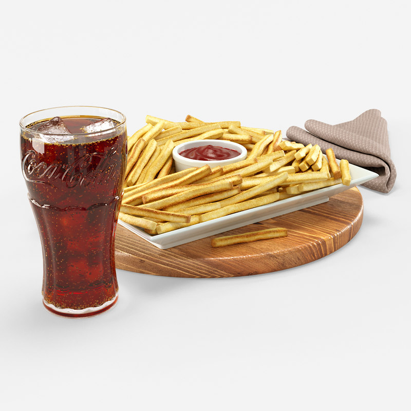 cola french fries 3D model