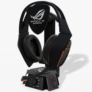 3D asus rog centurion headset