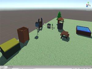3D garden stuff model