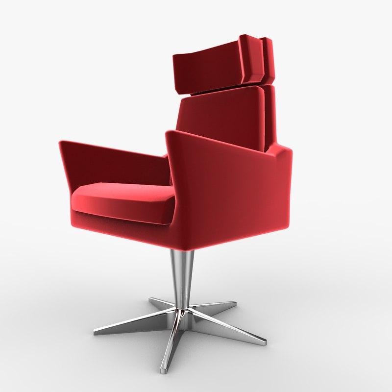 velvet lounge chair model
