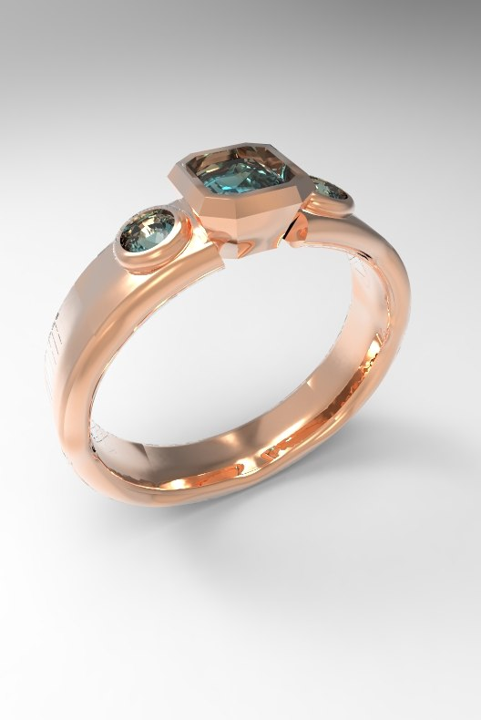 3D pietra anello