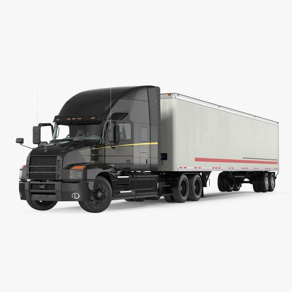 3D mack anthem truck trailer model