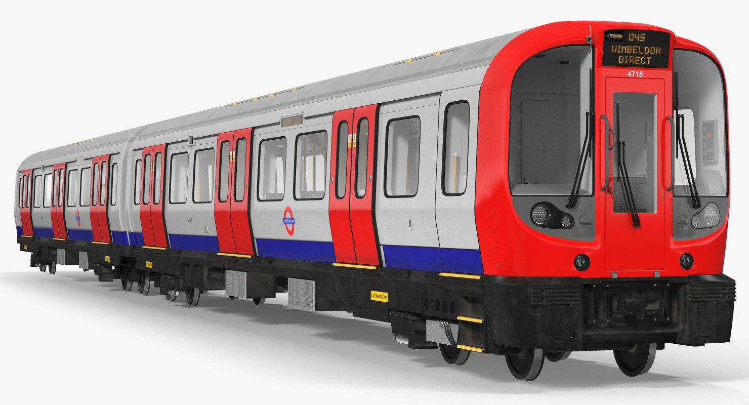london subway train s8 3D model