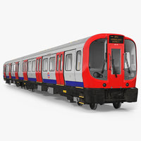 London Subway Train S8 Rigged 3D Model