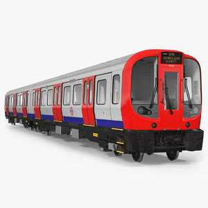 london subway train s8 3D model
