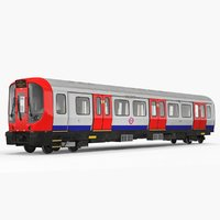 london subway train s8 3D