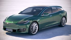 3D tesla s shooting model