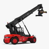 linde reach stacker rigged 3D