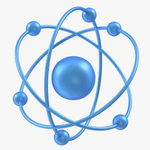 orbital atom modeled 3D model