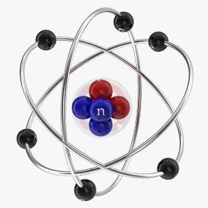 3D abstract atom orbit model