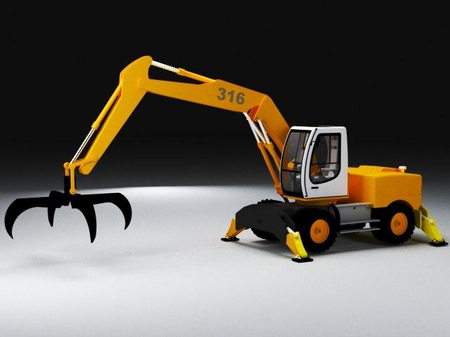 crane excavadora retroescavadora model