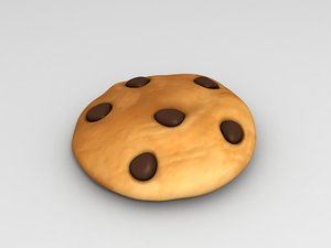 cookie cartoon 3D model