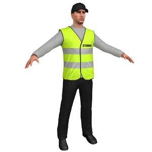 safety steward 3D model