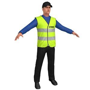 safety steward 3D
