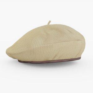 beret brown 3D model