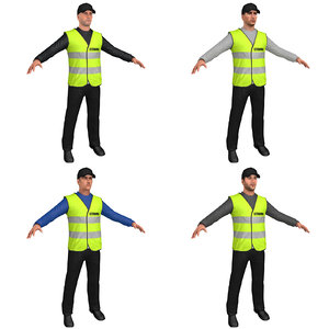 3D model pack safety steward