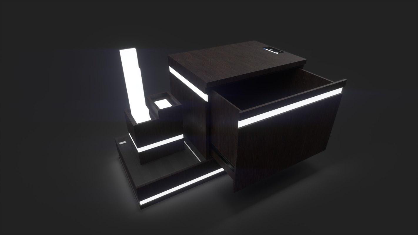 bedframe nightstand 3D model