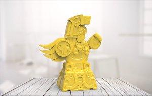 3D statue 02 model