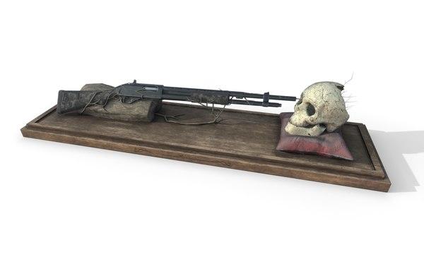 decorative weapons human - model