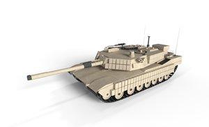 3D abrams tank model