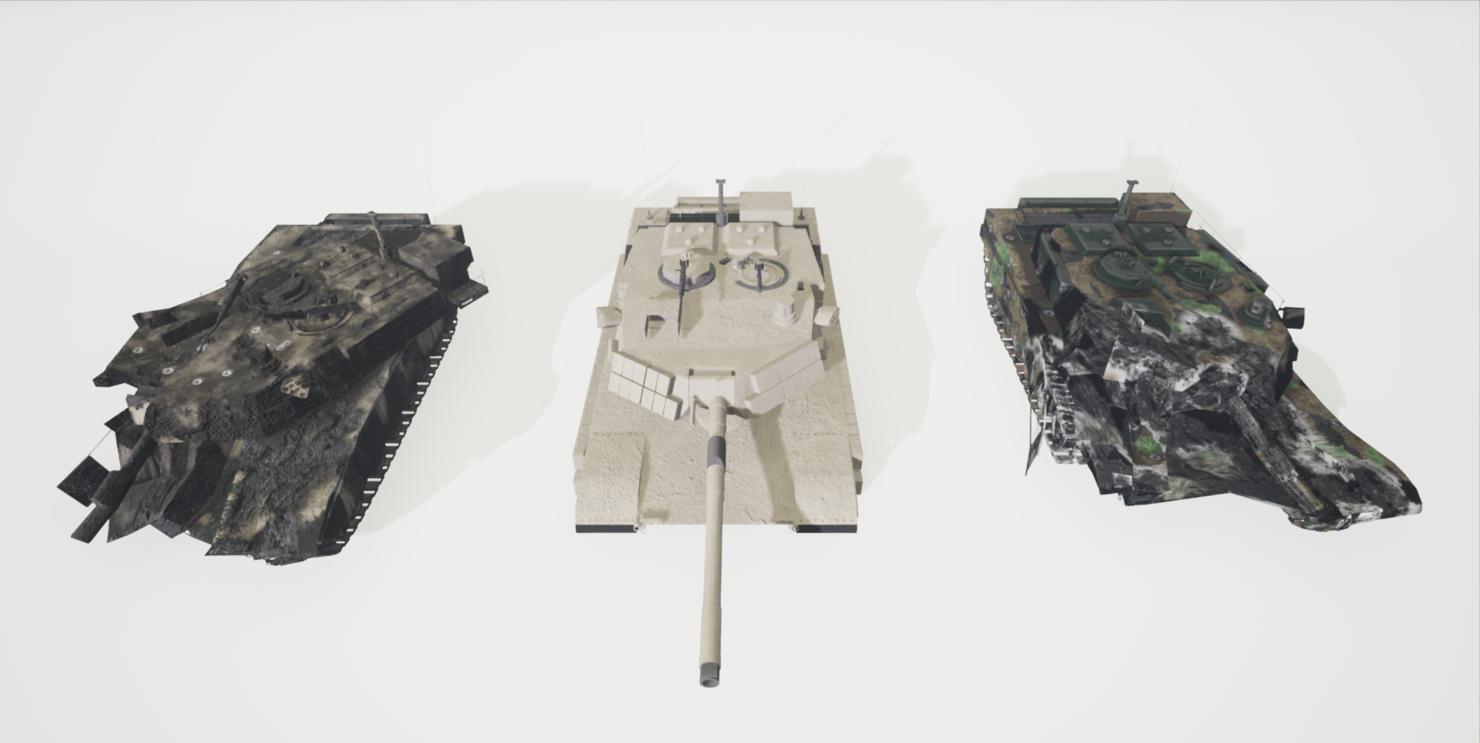 3D model ue4 tank abrams dm