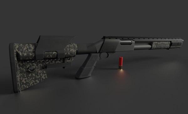 remington 870 tactical 3D model