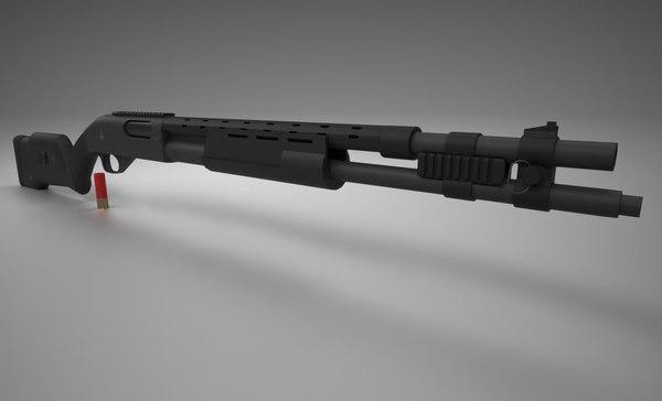 3D - remington 870 model
