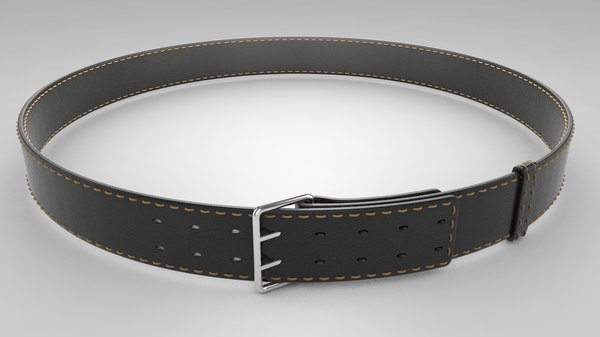 belt modeled 3D model