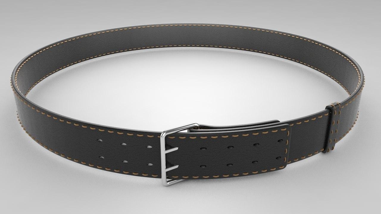 belt modeled 3D model