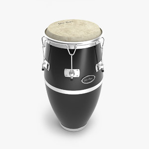 3D conga drums model