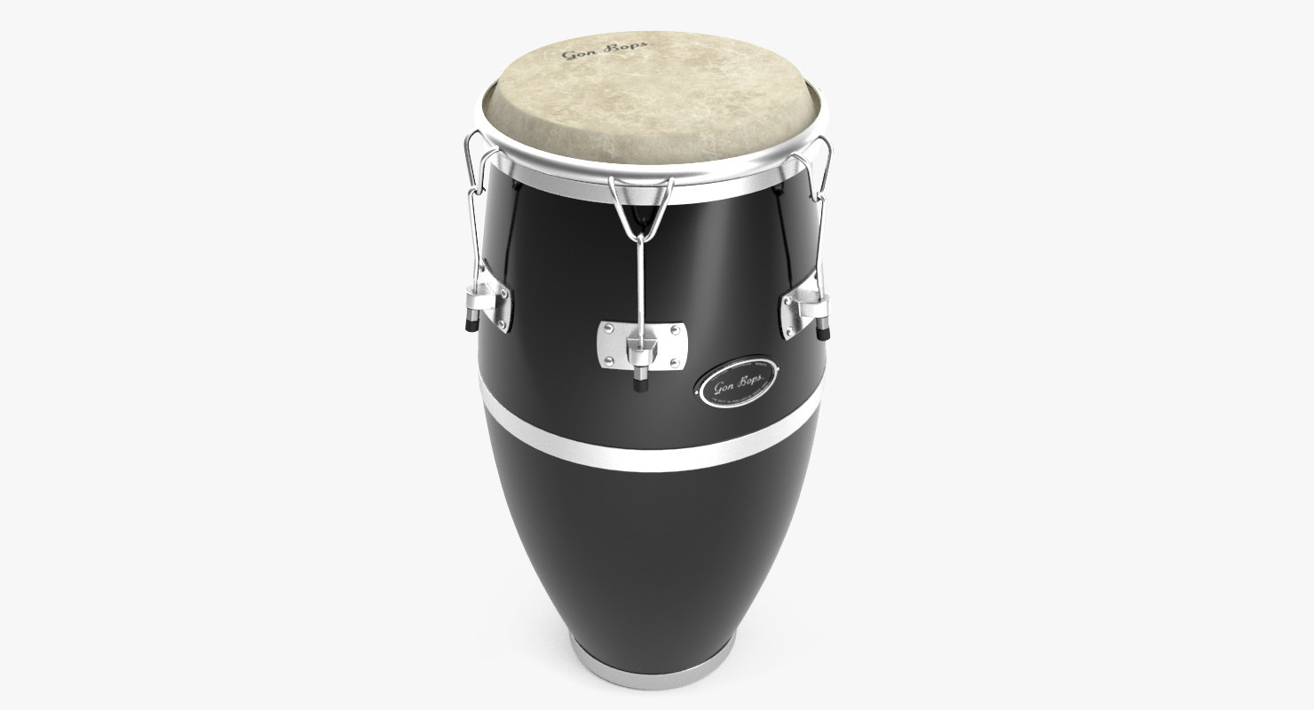 3D conga drums model