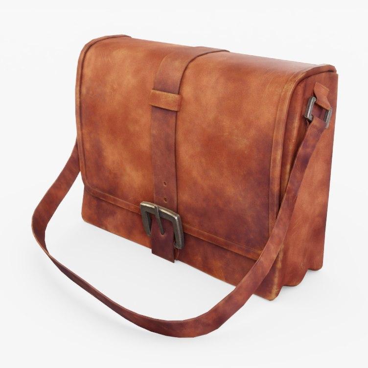 leather bag 3D model