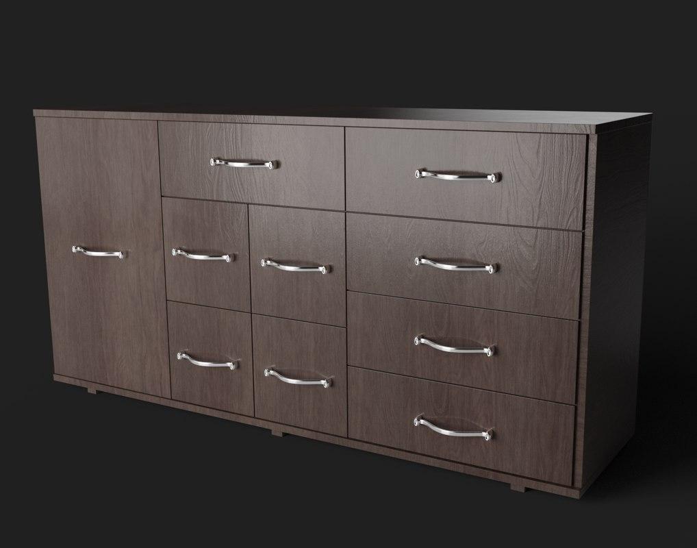 3D dark cabinet
